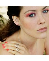 Sally Lane Jewellery - Metallic In My Defence Silver Ring - Lyst