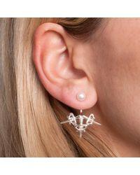 Leivan Kash | Metallic Dagger Ear Jacket Silver | Lyst