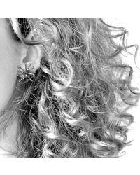 Mikinora | Metallic Jacks Earrings Silver | Lyst