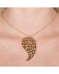 Sonal Bhaskaran | Metallic Jaali Gold Necklace Yellow Cz | Lyst