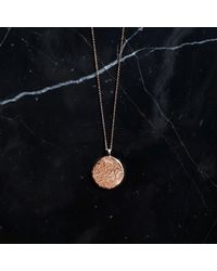 KIND Jewellery - Multicolor Rose Gold Full Moon Disc Necklace - Lyst