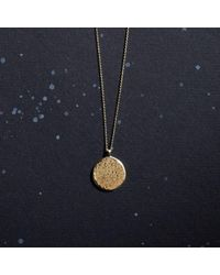 KIND Jewellery - Metallic Gold Full Moon Disc Necklace - Lyst