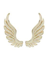 Latelita London - Metallic Gabriel Angel Wing Ear Climber Gold - Lyst