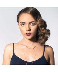 Liz Law - Metallic Line Up Silver - Lyst