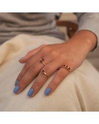 GFG Jewellery | Metallic Lara Garnet Single Ring | Lyst