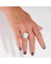 GFG Jewellery - Metallic Dafna Coin Ring Blanc - Lyst