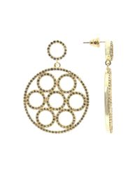 Latelita London - Metallic Olympics Earring Gold Peridot - Lyst