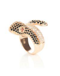 LÁTELITA London | Metallic Serpent Ring Gold | Lyst