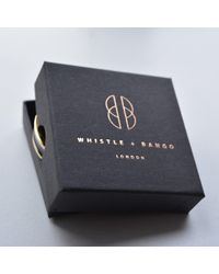 Whistle & Bango - Multicolor 's' Alphabet 24ct Bangle Black - Lyst