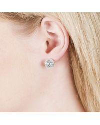 Sonal Bhaskaran - Metallic Svar Silver Stud Earrings Clear Cz - Lyst