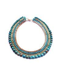 Miss High & Low - Blue Santorini Necklace - Lyst