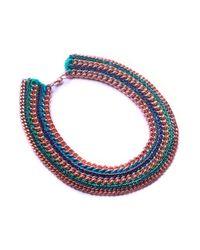 Miss High & Low - Blue Capri Necklace - Lyst