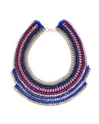Miss High & Low | Blue Snow Queen Necklace | Lyst