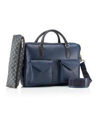 Mark Giusti | Blue Milano Double Zip Laptop Bag Navy & Black for Men | Lyst