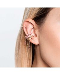 Astrid & Miyu - Multicolor The Horseshoe Ear Cuff In Gold - Lyst