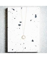 KIND Jewellery - Metallic Rose Gold Crescent Lune Pendant Necklace - Lyst
