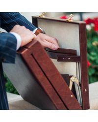 Maxwell Scott Bags - Luxury Black Luxury Attache Case The Strada for Men - Lyst