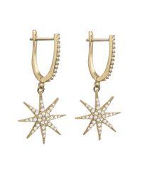 Talia Naomi | Metallic Supernova Earrings Gold | Lyst