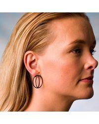 Nancy Rose Jewellery - Multicolor Oxidised Large Ellipse Stud Earrings - Lyst