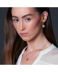 Liwu Jewellery - Metallic Love Gold Plated Earrings - Lyst