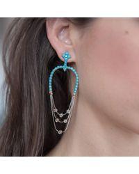 Joana Salazar - Multicolor Vintage Turquoise Earrings - Lyst