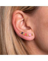 Leivan Kash - Metallic Leila Ear Cuff Gold & Enamel - Lyst