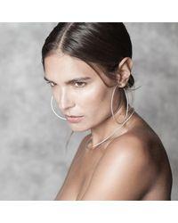 Isabel Lennse - Metallic Round Bangle Necklace Twisted - Lyst