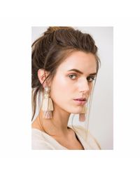 Wafa By Wafa | Cream & Pink Gaia Earrings | Lyst