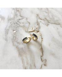 Yucama - Metallic Crushed Black Diamond Earrings - Lyst