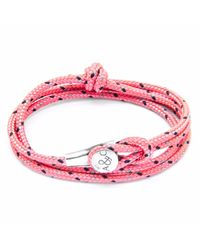 Anchor & Crew | Pink Dundee Silver & Rope Bracelet | Lyst