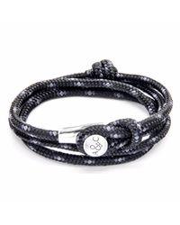 Anchor & Crew | Black Dundee Silver & Rope Bracelet for Men | Lyst