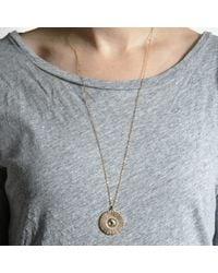 Bark - Metallic Gold Sunburst Necklace - Lyst