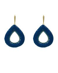 Latelita London | Stingray Hollow Tear Earring Royal Blue | Lyst