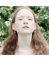 Cielle - Pastel Stone Teardrop Earrings Sky Blue - Lyst