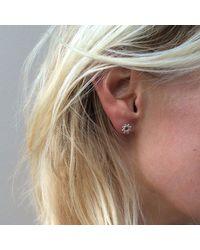 Agnes De Verneuil - Metallic Silver Stud Earrings Tiny Sun - Lyst