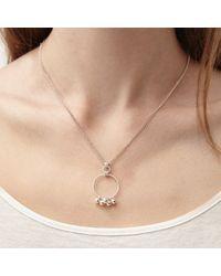 Alison Fern Jewellery - Metallic Robyn Silver Circle & Charm Necklace - Lyst
