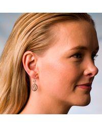 Nancy Rose Jewellery - Metallic Silver Ellipse Hook Earrings - Lyst