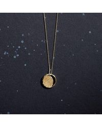 KIND Jewellery - Metallic Gold Crescent Lune Disc Necklace - Lyst