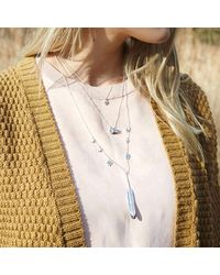 Bark - Metallic Silver Feather Necklace - Lyst