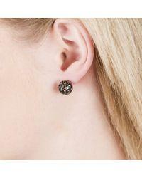 Sonal Bhaskaran - Black Svar Ruthenium Sphere Earrings Spinel - Lyst