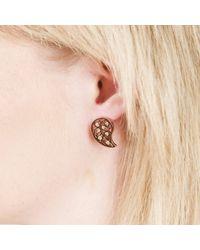 Sonal Bhaskaran - Multicolor Reya Rose Gold Paisley Earrings Yellow Cz - Lyst