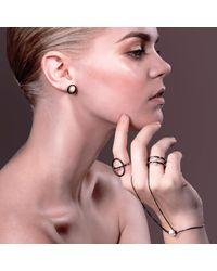 Cara Tonkin - Black Orbit Sphere Hand Bracelet Oxidised Silver - Lyst