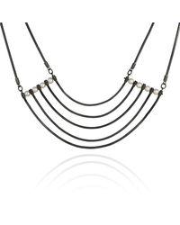 Cara Tonkin | Black Orbit Cosmos Necklace Oxidised Silver | Lyst