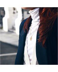 Sonal Bhaskaran - Multicolor Reya Gold Paisley Necklace Clear Cz - Lyst