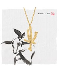 Loveness Lee - Metallic Chinese Zodiac Ox Horoscope Gold Pendant Necklace - Lyst
