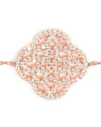 Latelita London - Pink Celtic Bracelet Rosegold - Lyst