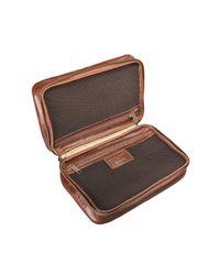 Maxwell Scott Bags - Brown Luxury Italian Leather Women's Zip Around Toiletry Bag Cascina Chestnut Tan - Lyst