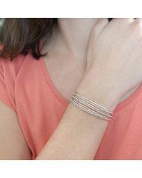Agnes De Verneuil - Metallic Silver Seven-band Cuff Bracelet Line & Pearls - Lyst