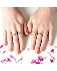 Lee Renee - Metallic Shine Ring Silver - Lyst