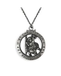Serge Denimes - Metallic Silver St Christopher Necklace for Men - Lyst